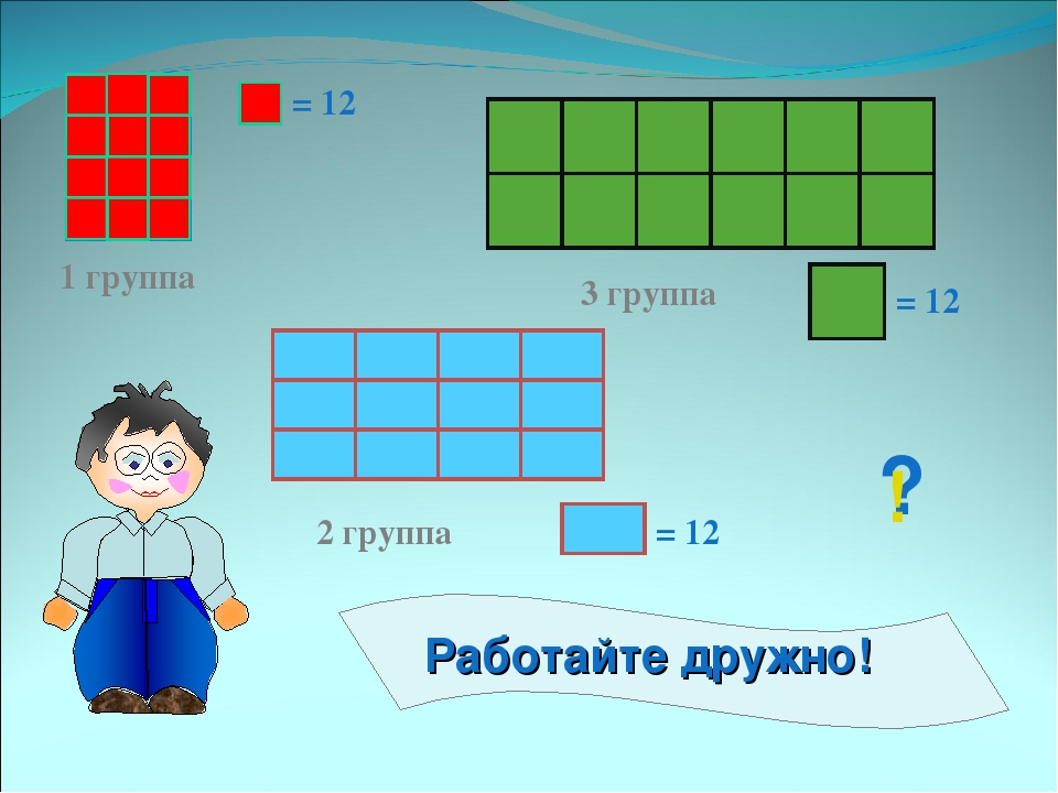 1 группа 2 группа 3 группа = 12 = 12 = 12 ? !