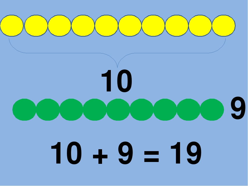 10 9 10 + 9 = 19