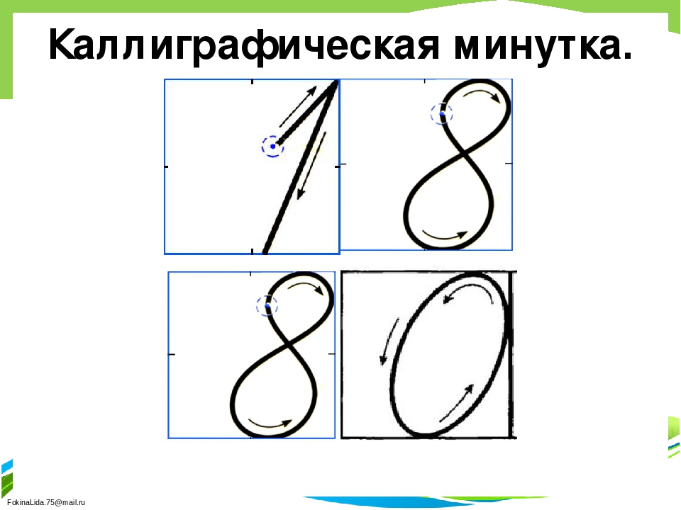 Каллиграфическая минутка. FokinaLida.75@mail.ru