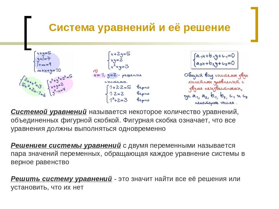 Системой уравнений называется некоторое количество уравнений, объединенных фи...
