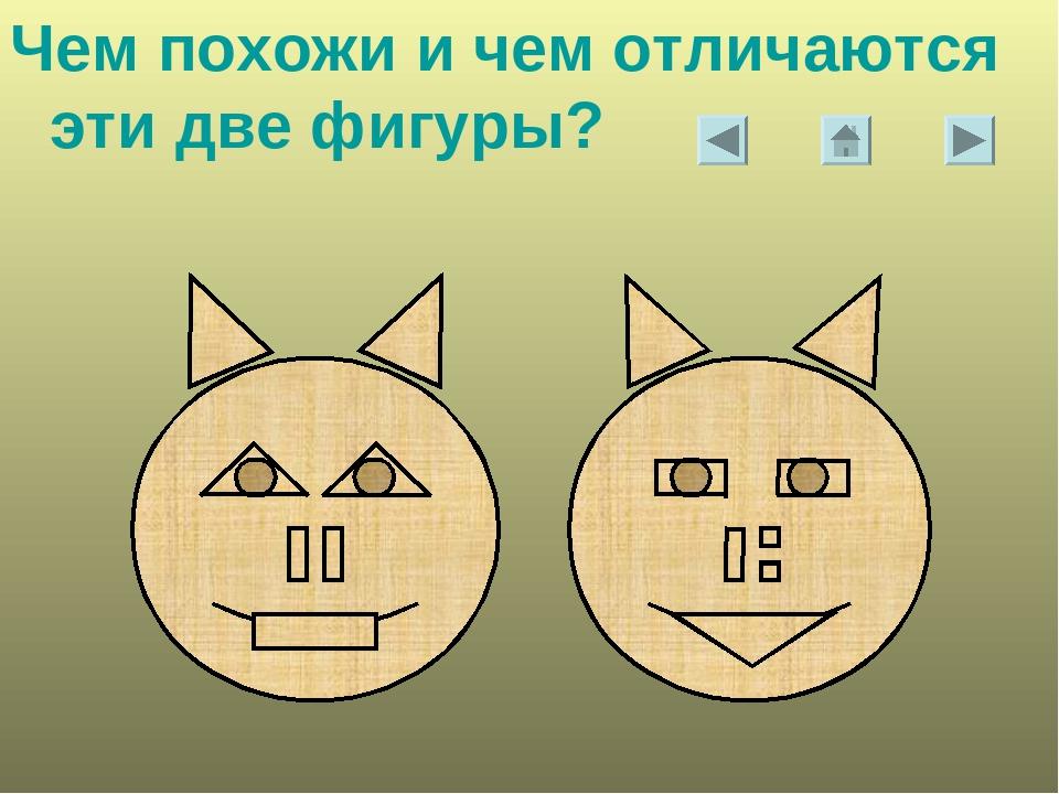 Чем похожи и чем отличаются эти две фигуры?
