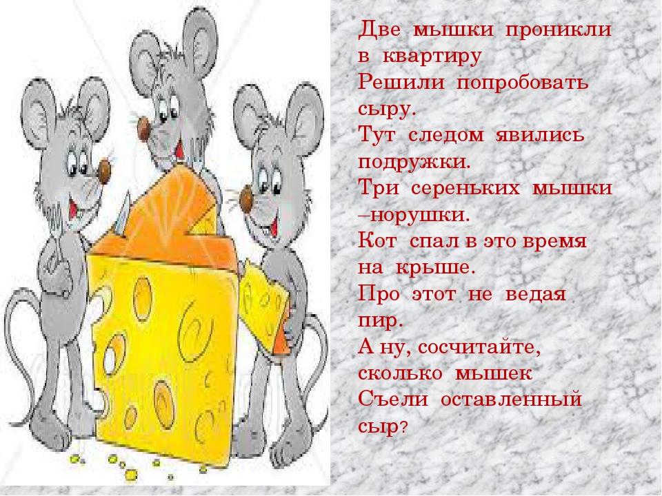 Две мышки проникли в квартиру Решили попробовать сыру. Тут следом явились под...