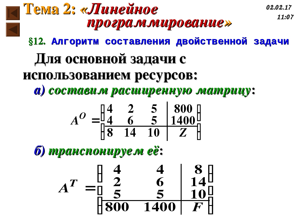 Для основной задачи с использованием ресурсов: а) составим расширенную матриц...