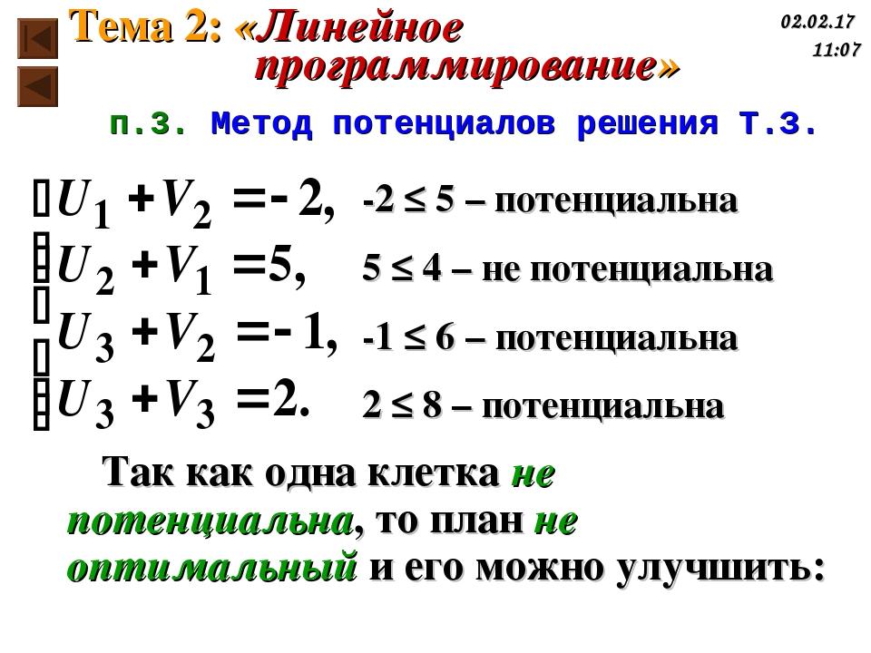 -2 ≤ 5 – потенциальна 5 ≤ 4 – не потенциальна -1 ≤ 6 – потенциальна 2 ≤ 8 – п...