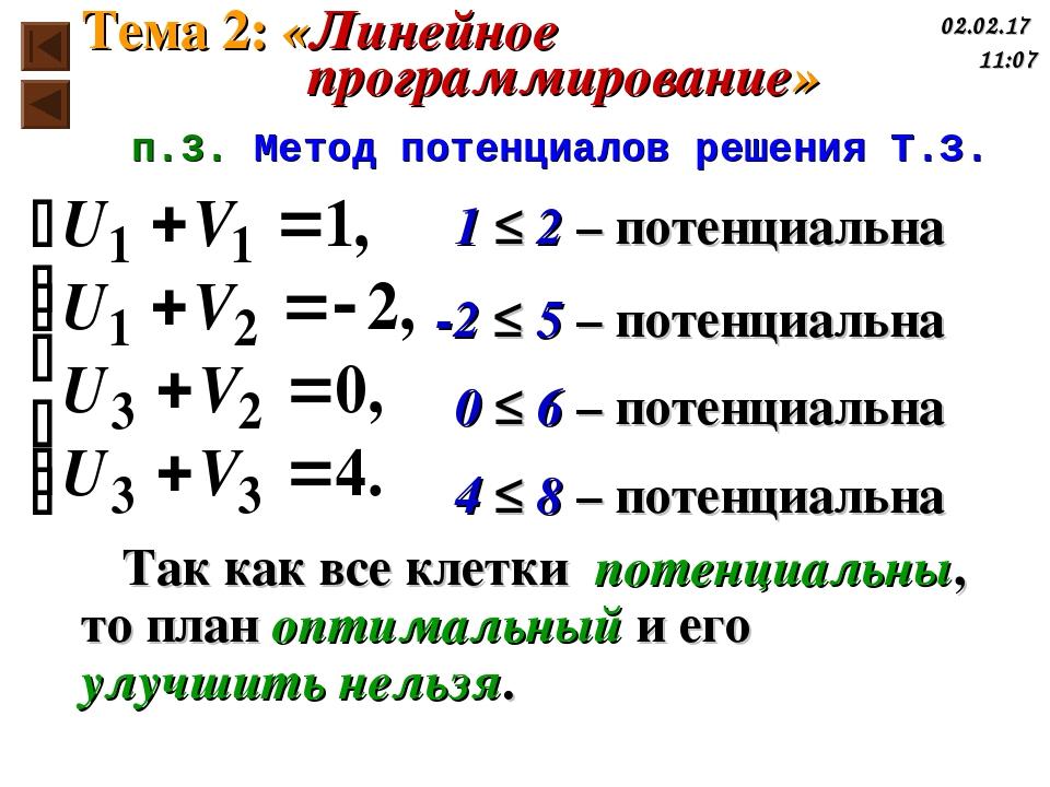 1 ≤ 2 – потенциальна -2 ≤ 5 – потенциальна 0 ≤ 6 – потенциальна 4 ≤ 8 – потен...