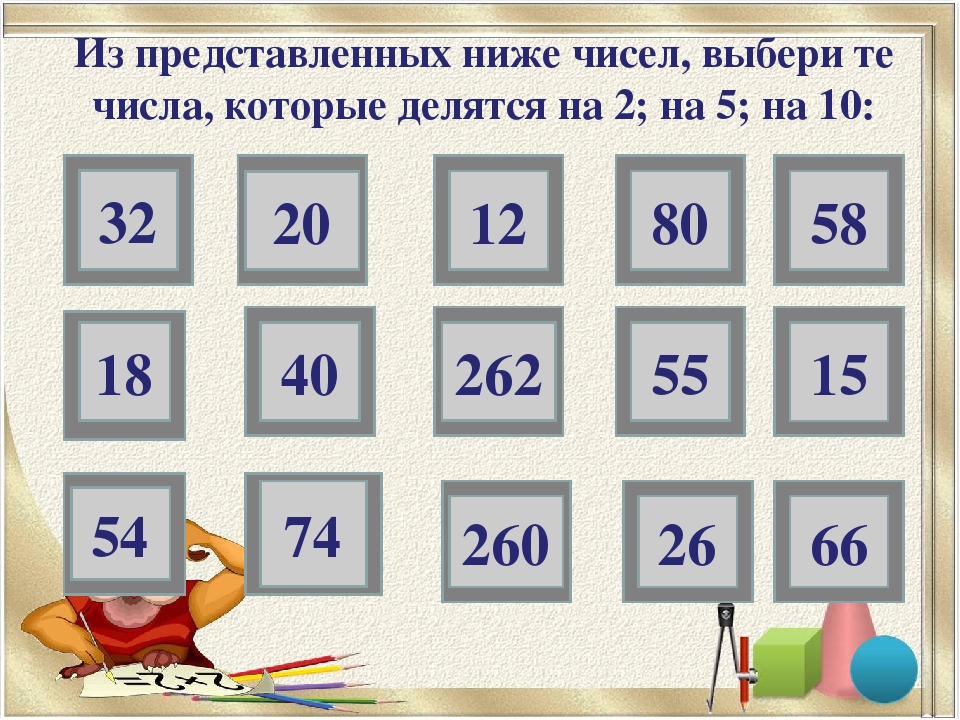 32 20 80 18 40 55 15 54 74 26 66 Из представленных ниже чисел, выбери те числ...