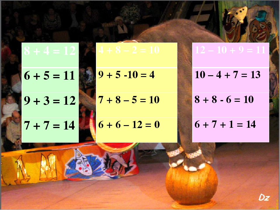4 + 8 – 2=10 9 + 5 -10=4 7 + 8 – 5=10 6 + 6 – 12 =0 12 – 10 +9= 11 10 – 4 +7=...