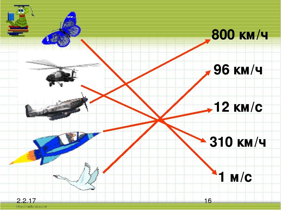 800 км/ч 96 км/ч 12 км/с 310 км/ч 1 м/с
