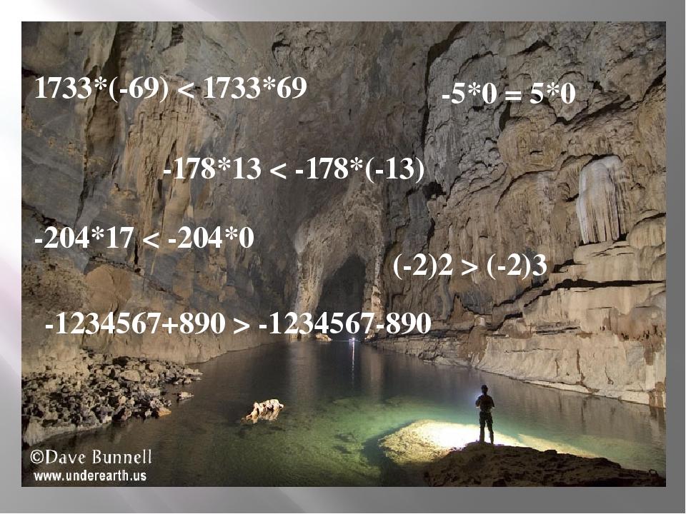 1733*(-69) < 1733*69 -178*13 < -178*(-13) -204*17 < -204*0 -5*0 = 5*0 (-2)2 >...