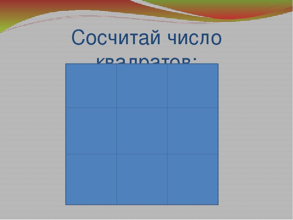 Сосчитай число квадратов: