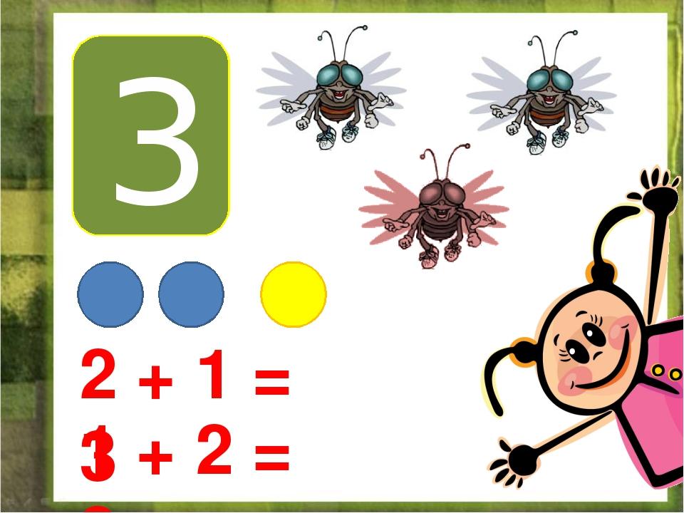3 2 + 1 = 3 1 + 2 = 3