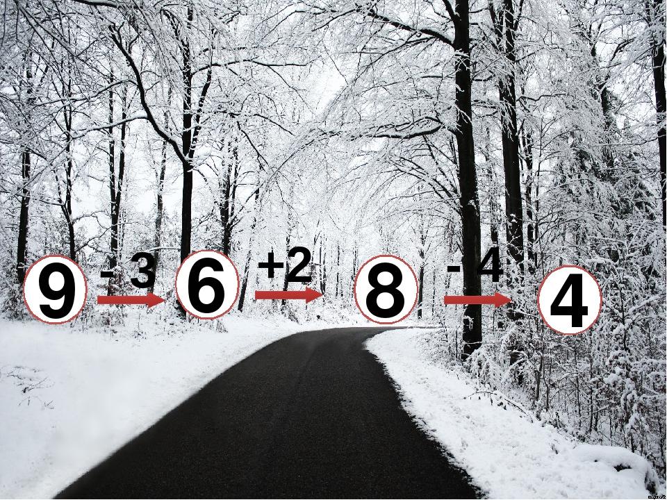 9 4 8 6 +2 - 3 - 4