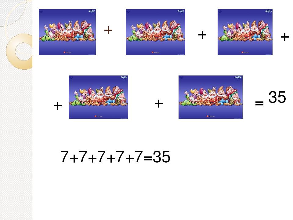 + + + + + = 35 7+7+7+7+7=35