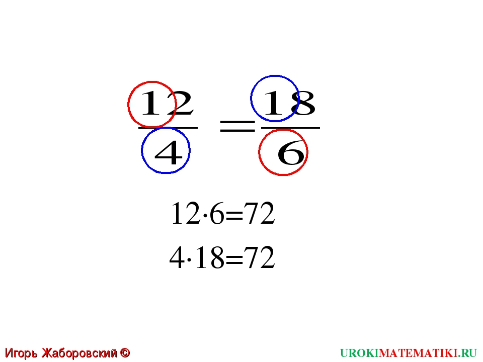 12∙6=72 4∙18=72 UROKIMATEMATIKI.RU Игорь Жаборовский © 2011