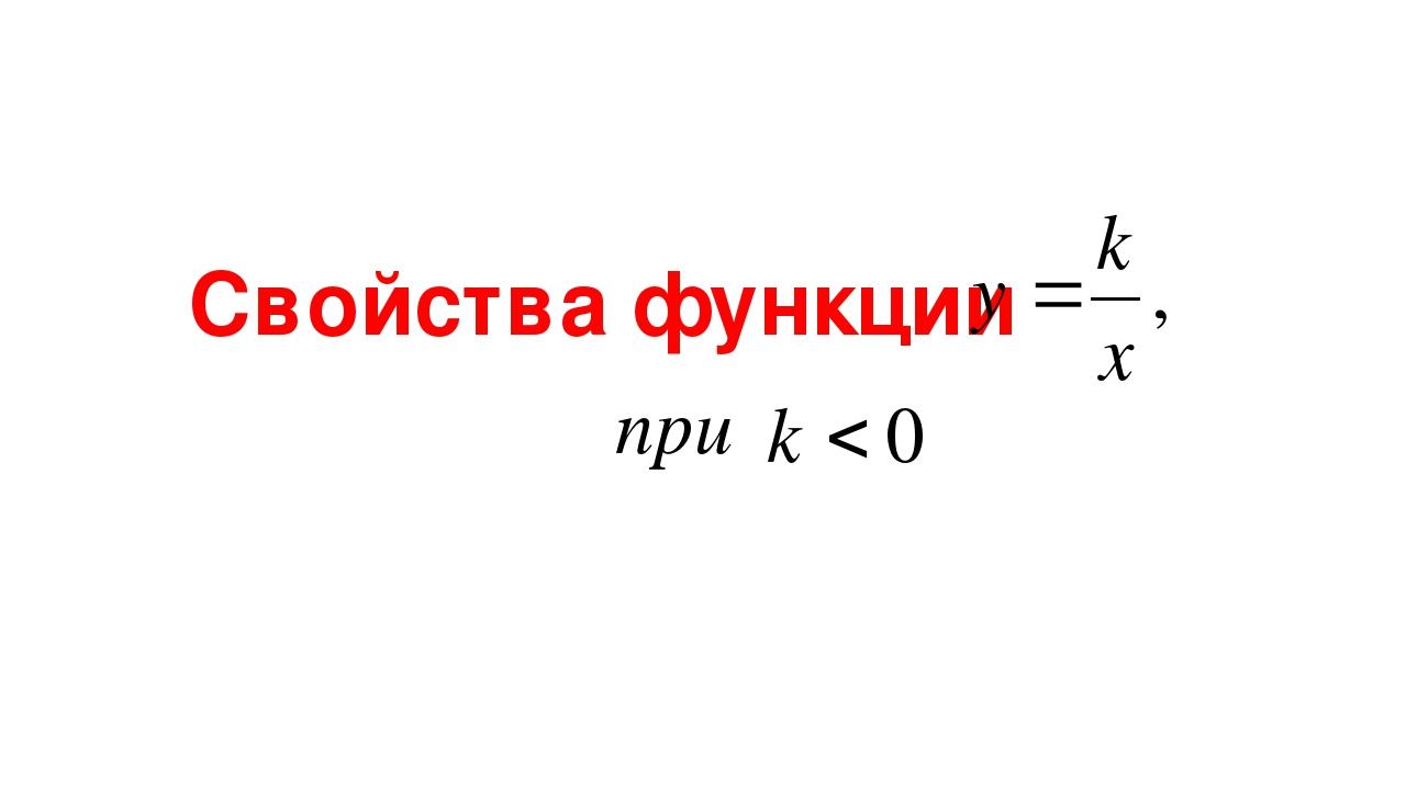 Свойства функции