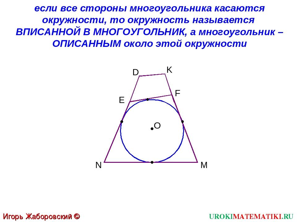 UROKIMATEMATIKI.RU Игорь Жаборовский © 2012 если все стороны многоугольника к...