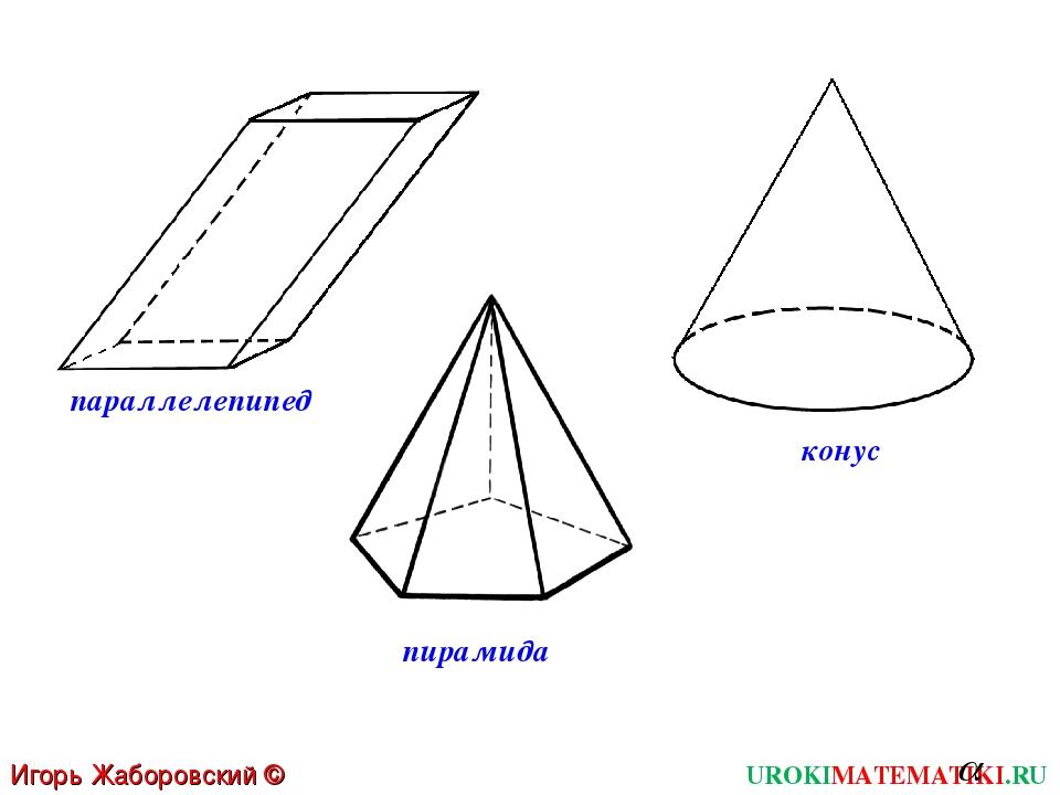 UROKIMATEMATIKI.RU Игорь Жаборовский © 2012 пирамида параллелепипед конус