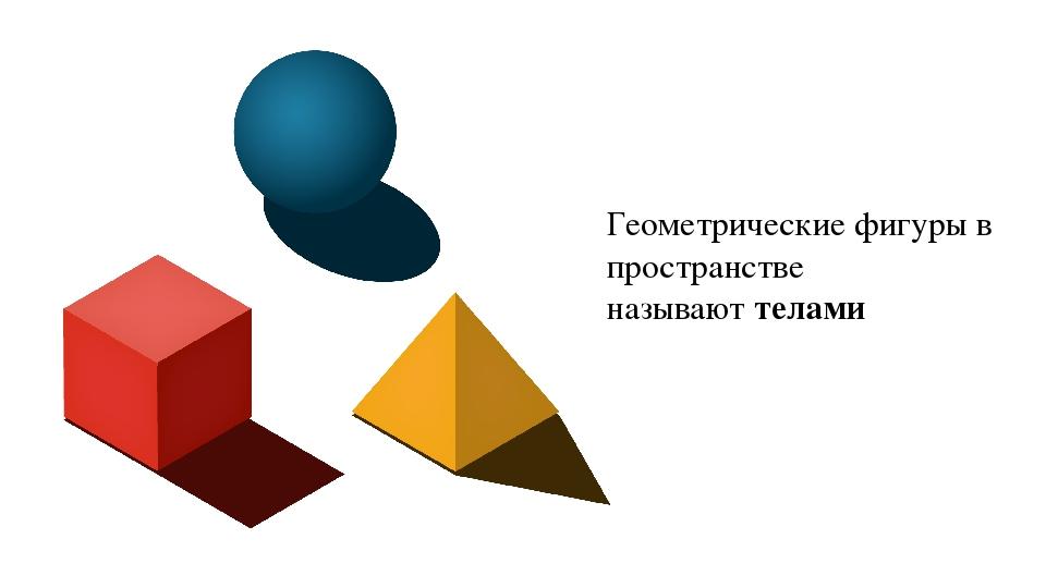 Геометрические фигуры в пространстве называют телами