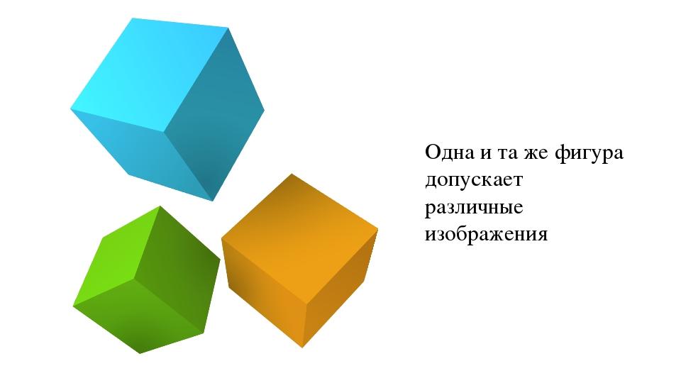 Одна и та же фигура допускает различные изображения