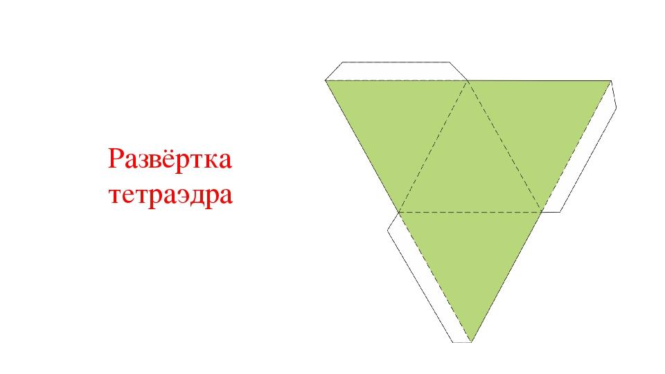 Развёртка тетраэдра