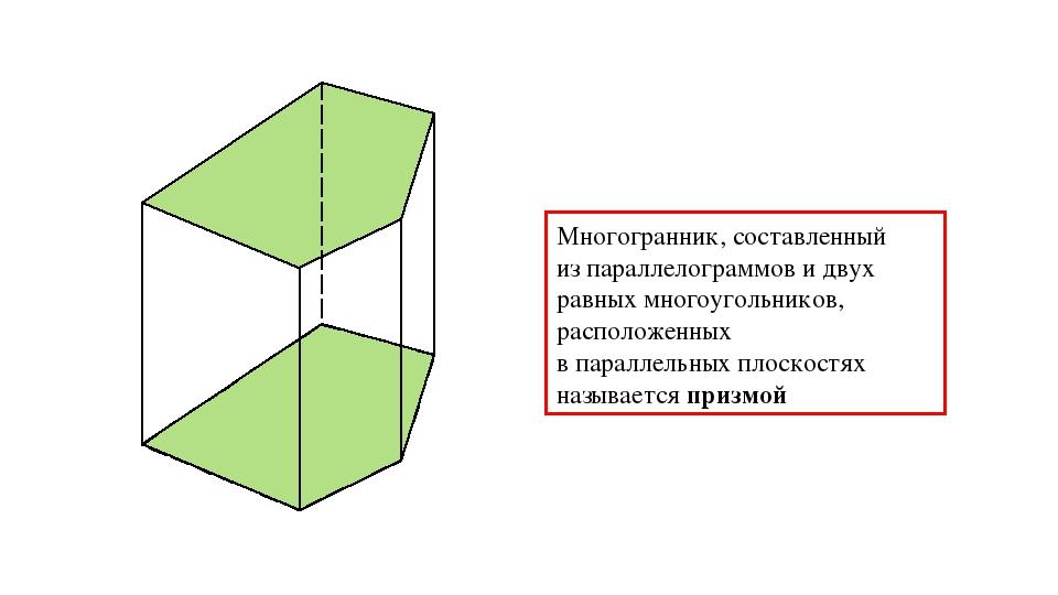 α β Многогранник, составленный из параллелограммов и двух равных многоугольни...