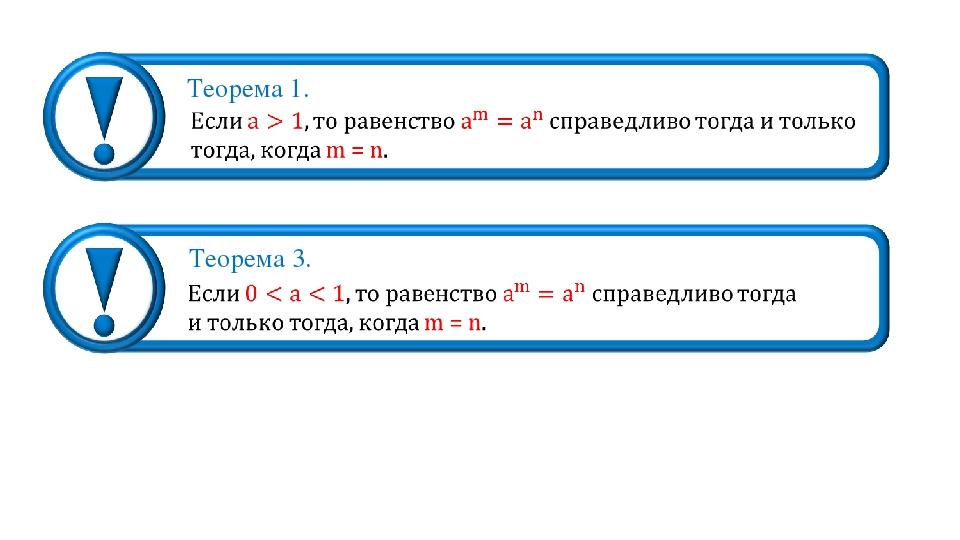 Теорема 1. Теорема 3.