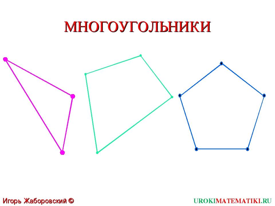 МНОГОУГОЛЬНИКИ UROKIMATEMATIKI.RU Игорь Жаборовский © 2011