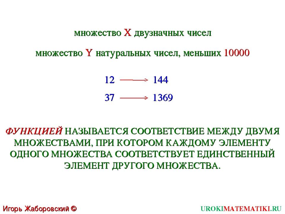 UROKIMATEMATIKI.RU Игорь Жаборовский © 2011 множество X двузначных чисел множ...