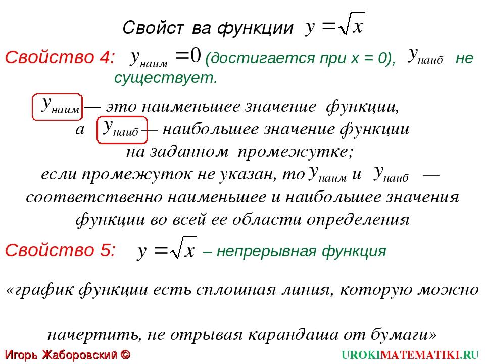 Свойства функции Свойство 4: (достигается при х = 0), не существует. — это на...