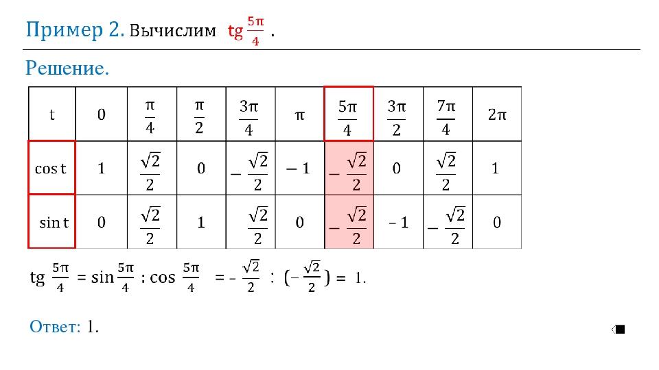 Решение. Ответ: 1. = 1.