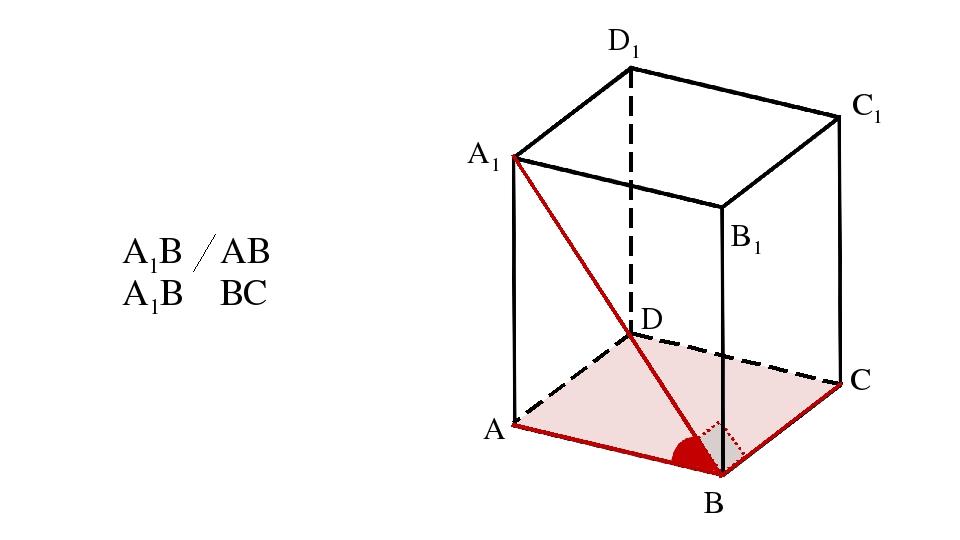 A B C D A1 B1 C1 D1 А1В ⏊ АВ А1В ⏊ ВС