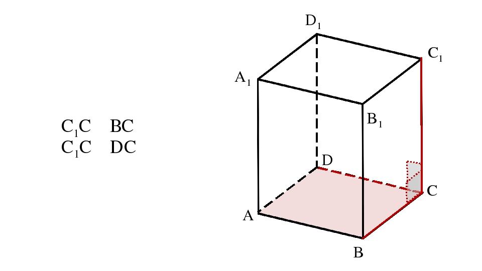 A B D A1 B1 C1 D1 C1C ⏊ ВC C1C ⏊ DС C