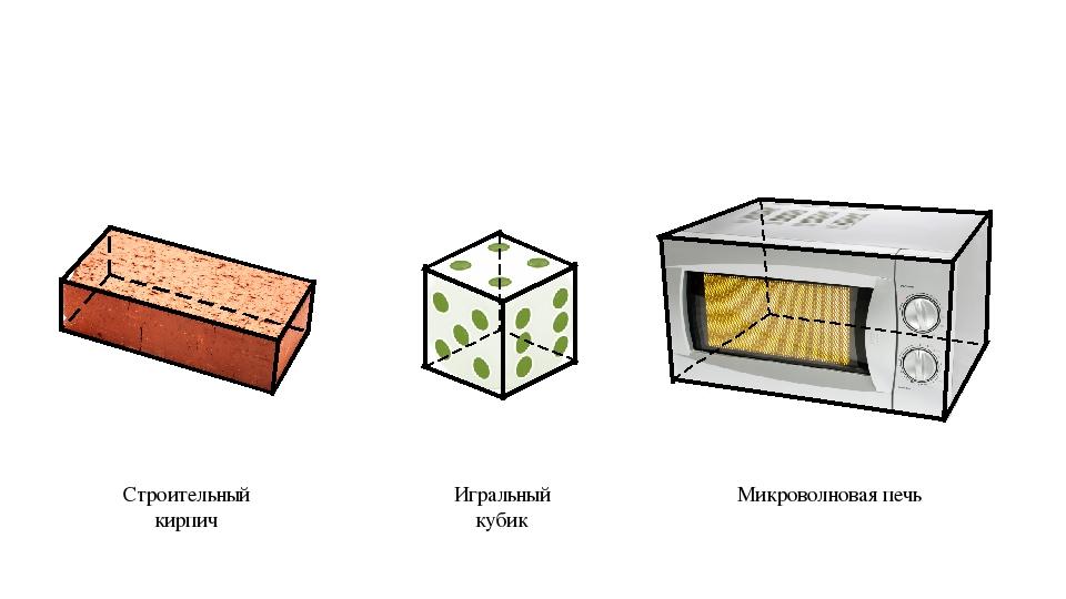 Строительный кирпич Игральный кубик Микроволновая печь