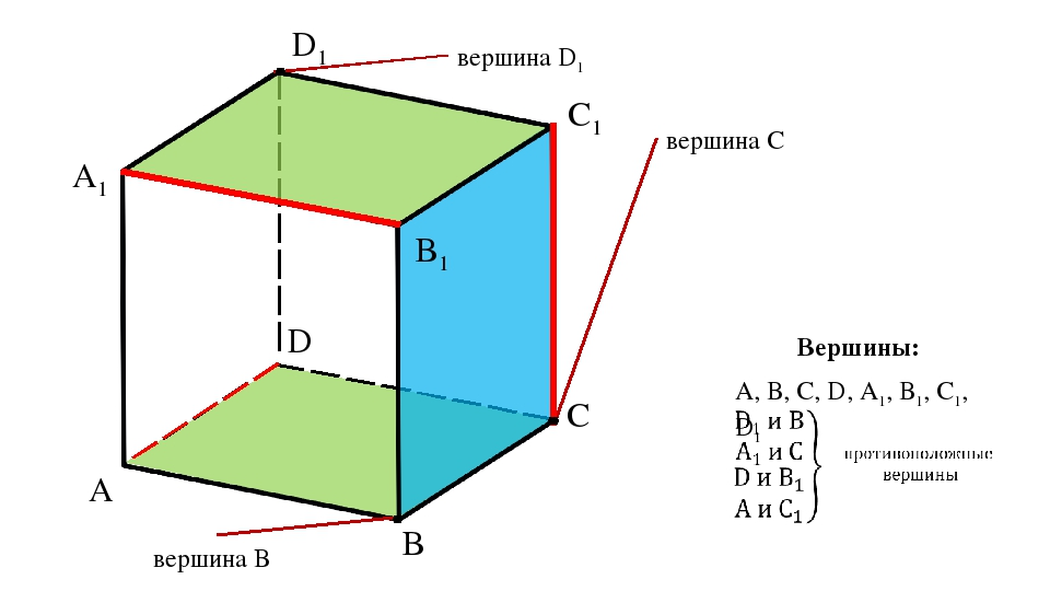 A D C B A1 D1 C1 B1 вершина D1 вершина С вершина B А, В, С, D, А1, В1, С1, D1...
