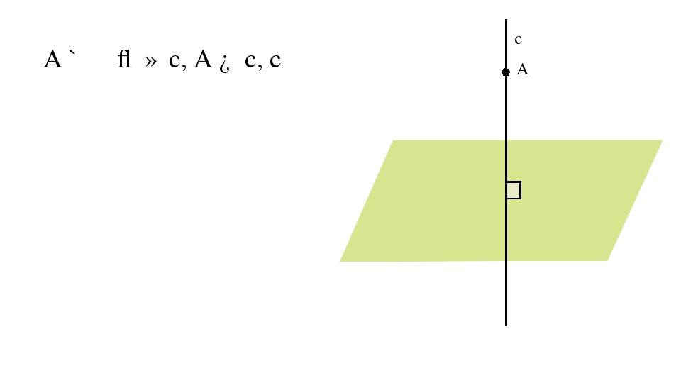 A ∉ α ⇒ ∃ c, A ∈ c, c ⏊ α α A c