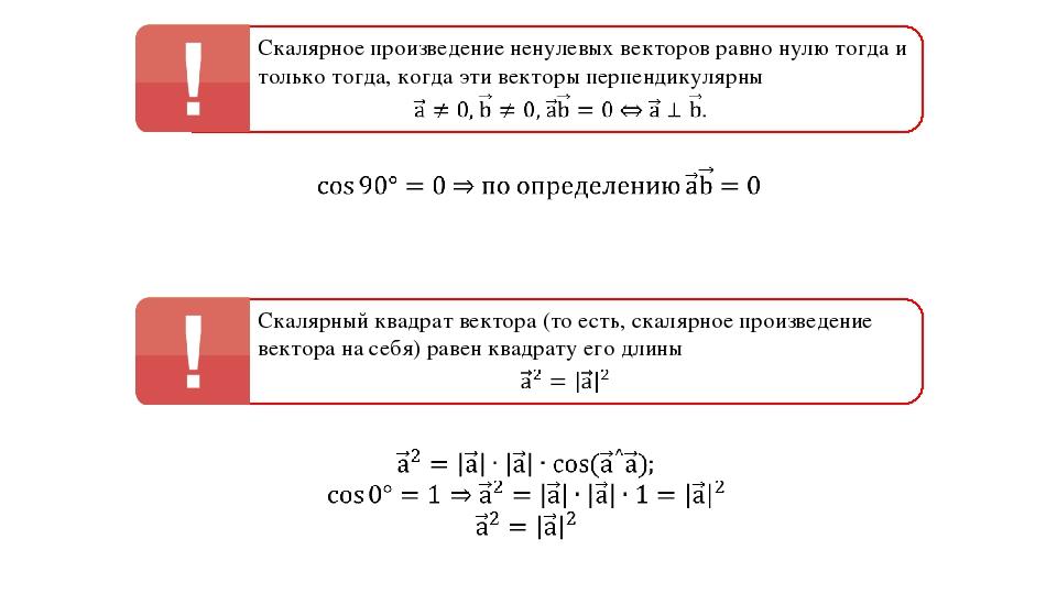 Скалярное произведение ненулевых векторов равно нулю тогда и только тогда, ко...
