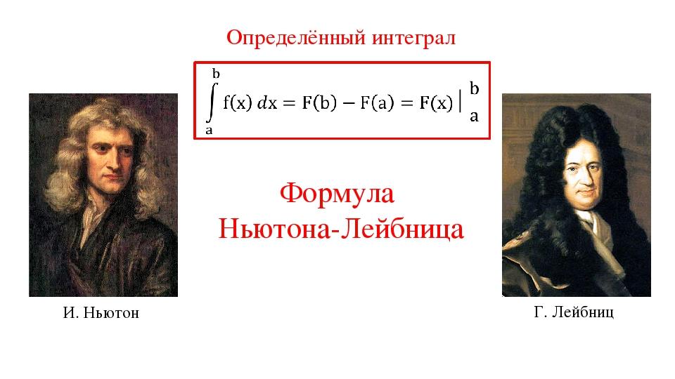 Формула Ньютона-Лейбница Г. Лейбниц И. Ньютон Определённый интеграл