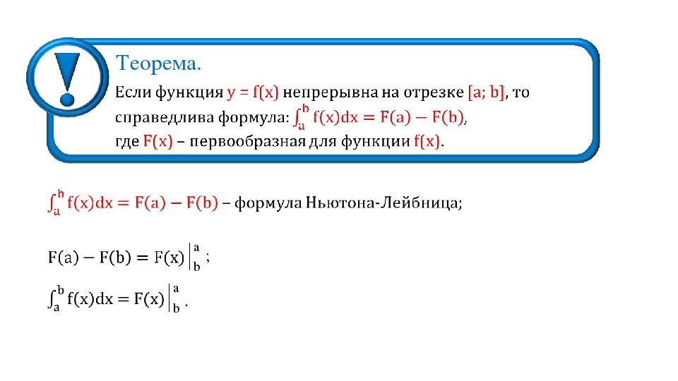 Теорема. a b ; a b .