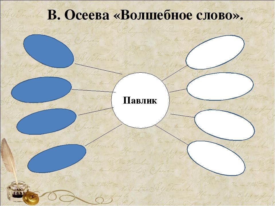 В. Осеева «Волшебное слово». Павлик