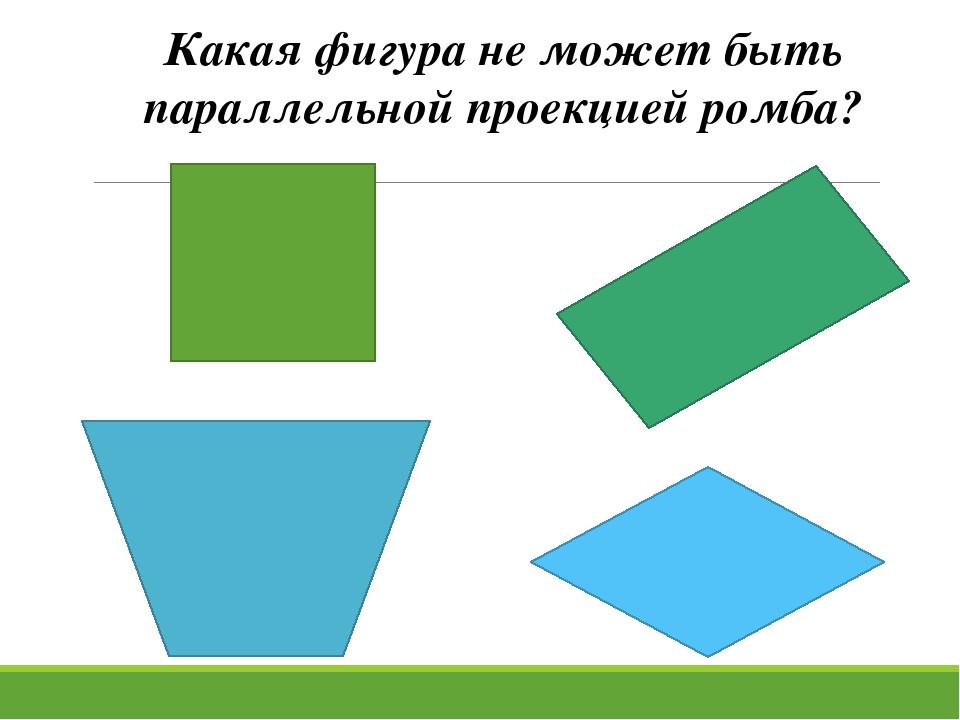 Какая фигура не может быть параллельной проекцией ромба?