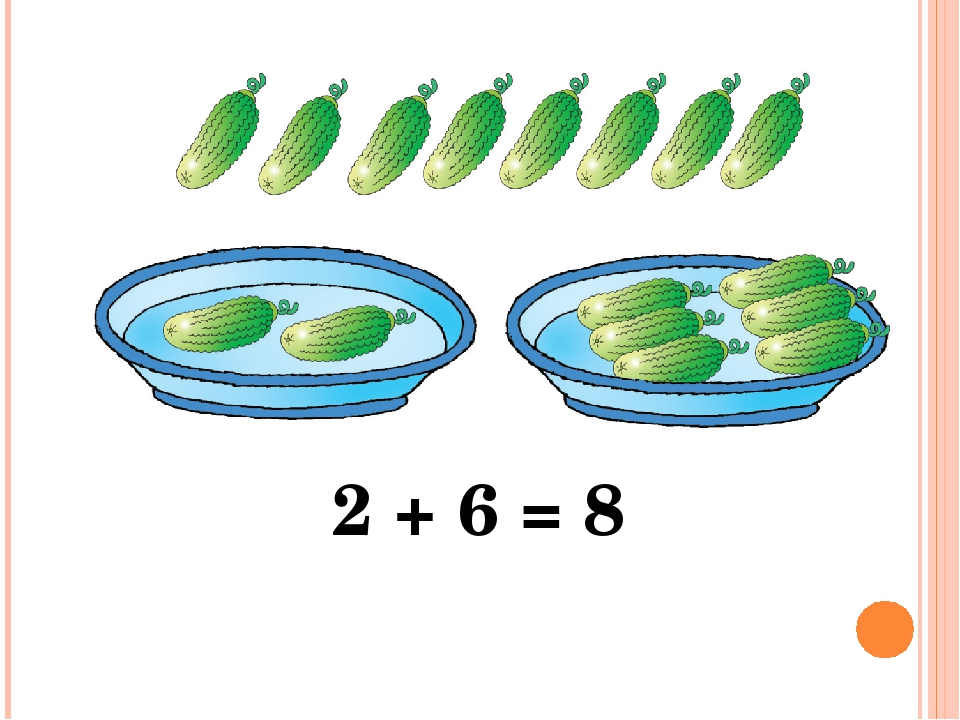 2 + 6 = 8