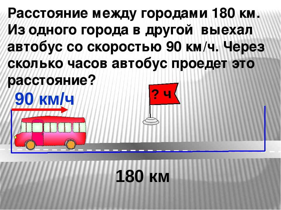 Расстояние между городами 180 км. Из одного города в другой выехал автобус со...