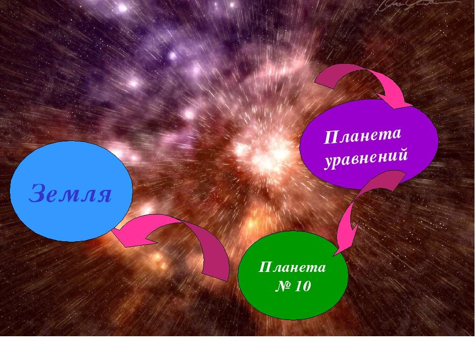 Планета уравнений Планета № 10 Земля