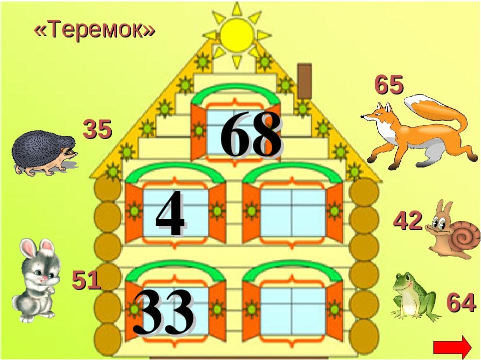 68 4 33 «Теремок» 64 35 51 65 42