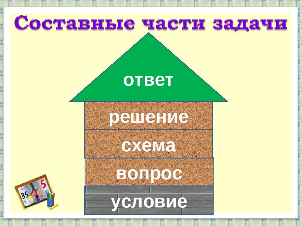 условие вопрос схема решение ответ условие