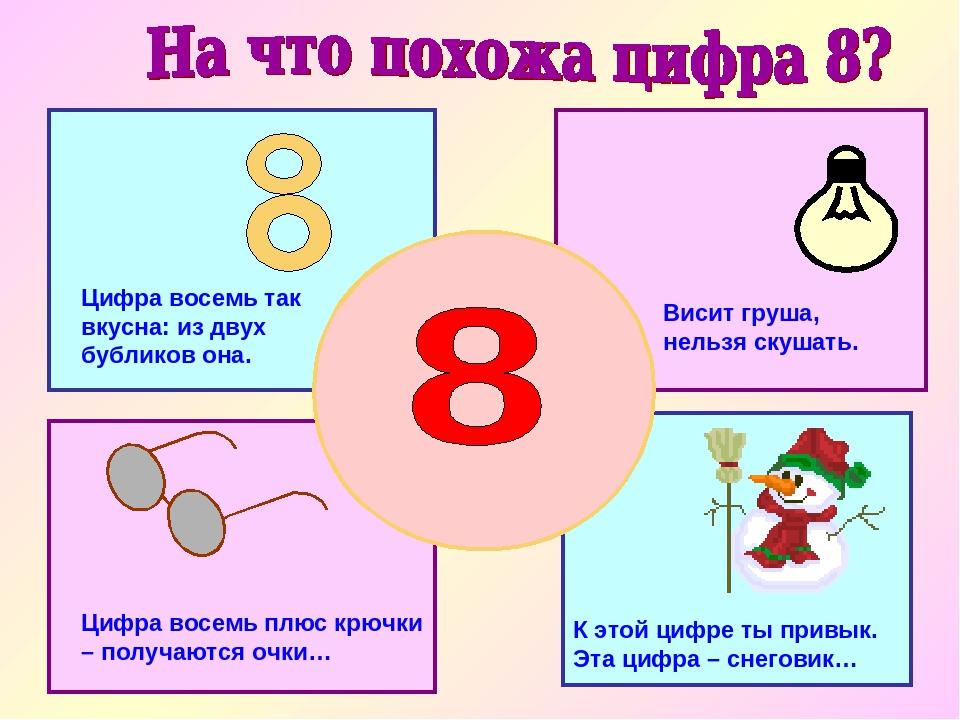 К этой цифре ты привык. Эта цифра – снеговик… Висит груша, нельзя скушать. Ци...