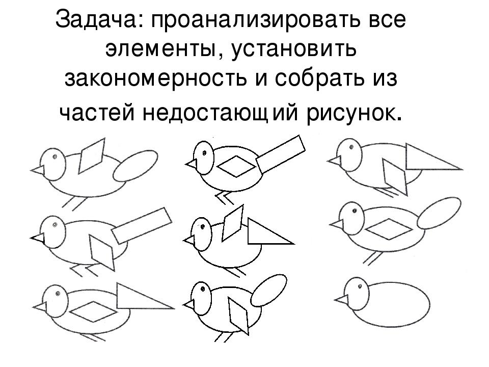 Задача: проанализировать все элементы, установить закономерность и собрать из...