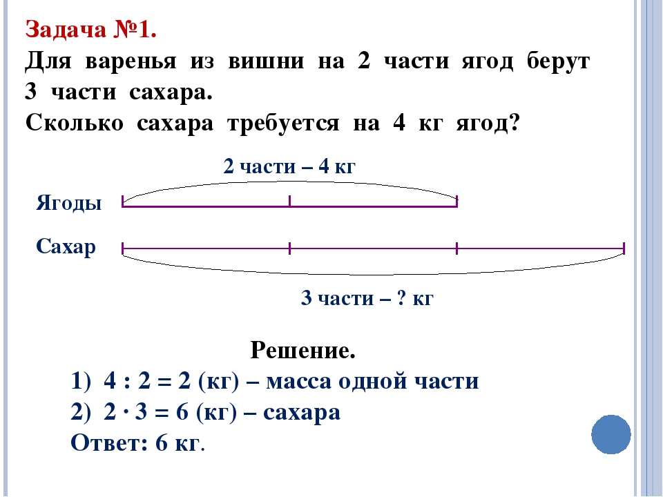 Решение задач на части арифметическим способом решение задач по физике из сборника савельева
