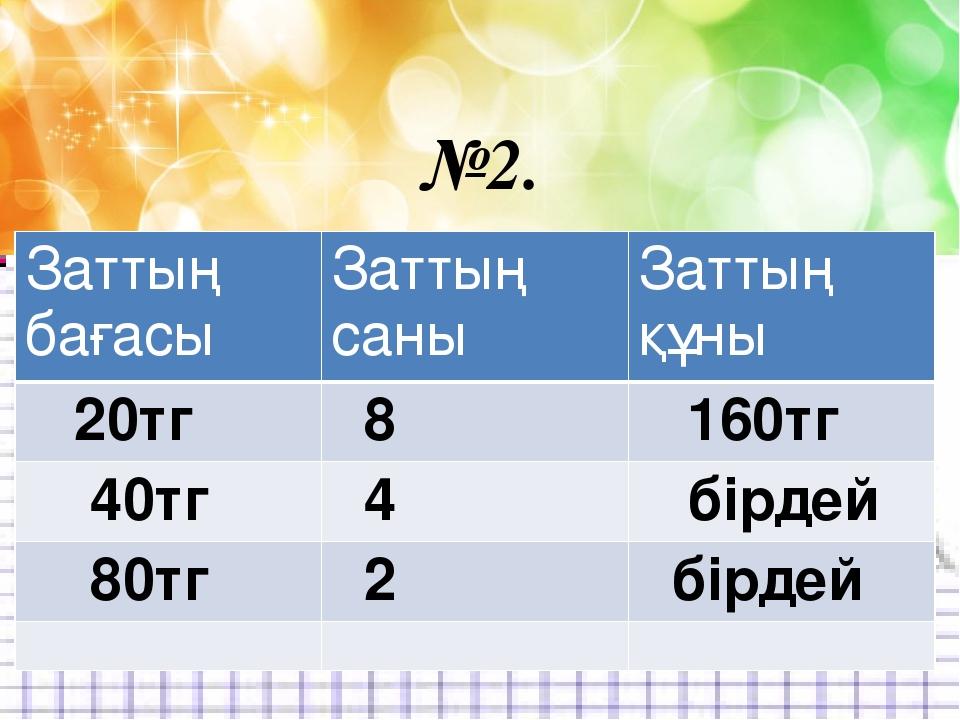 Есеп 3.