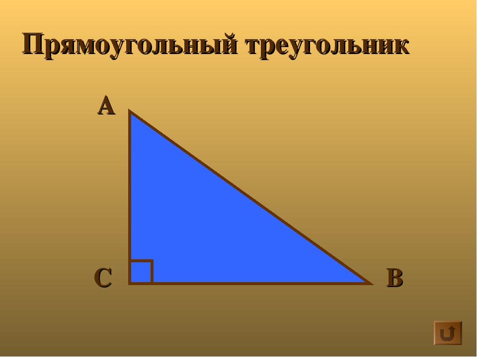 А В С Прямоугольный треугольник